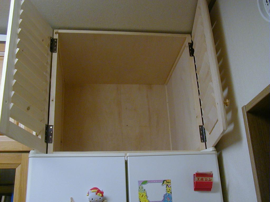 冷蔵庫の上の収納31